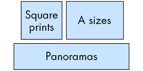 Which print style: A size, panoramic, square?